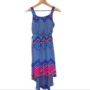 Paperdoll Aztec Print Hi-Lo Dress